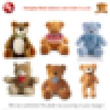 customized OEM design!sweater teddy bear plush toy