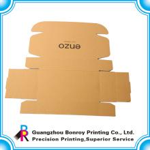 Caja de artesanía marrón de papel de fábrica personalizada de Guangzhou