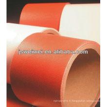 Tissu de tissu de fibre de verre de revêtement de caoutchouc de silicone de la Chine avec la grande largeur dans différentes couleurs
