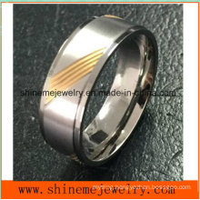 Shineme High Quality Jewelry Titanium Carving Gold Ring(Tr1912