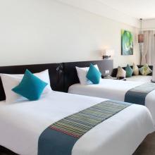 Draps en coton et draps de lit d'hôtel