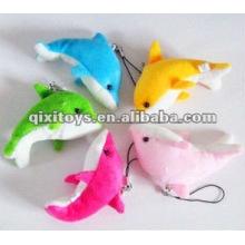 Porte-clés mignon en peluche et dauphin