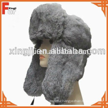 top quality chinese real natural color chinchilla rabbit fur hat