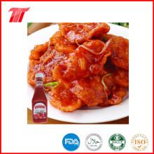 Ketchup de tomate en 340 G botella de plástico de color natural
