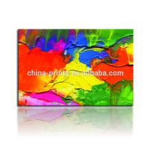 Pintura al óleo abstracta colorida / Dropshipping Impresión de la lona Paypal / pintura colgante del arte de la pared