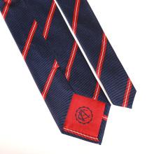 Laços de seda feitos sob encomenda bordados jacquard tecidos do Mens com logotipo