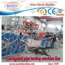 16-63mm de diámetro de PP PE PVC corrugado línea de fabricación de tubos