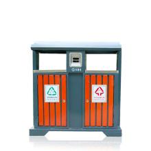 Lata de basura de hierro al aire libre (A4550)