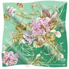 Bufandas de las señoras 2014 Bufandas de seda más nuevas de las señoras del cuadrado de la venta