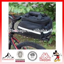 Alforja a prueba de agua del bolso de la bicicleta Alforja del bolso del tronco del asiento trasero de la bicicleta