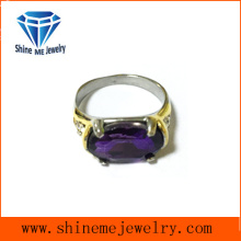 Oval Lila Steine Casting Finger Ring