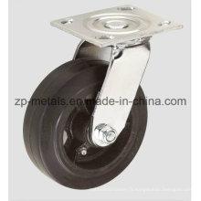 Roulette pivotante en caoutchouc robuste de 4 pouces