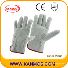 Gray Cowhide Split Leather Industrial Safety Driver Work Gloves (112011)