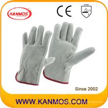 Серые кожаные рабочие перчатки безопасности безопасности (112011)