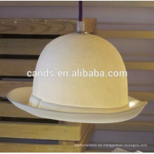 Nuevas luces colgantes hechas a mano del diseño del sombrero