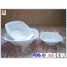 Chaozhou square white ceramic fruit dessert bowl