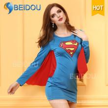 Vestido de lujo de las mujeres de la fábrica Traje atractivo de Víspera de Todos los Santos del superhombre de la enfermera japonesa