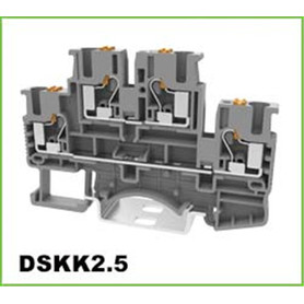 2 lager Push-in Electric Dinrail Terminal Block