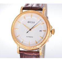 Механические часы для мужчин с кожаным ремешком для часов