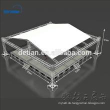 Spigot Truss System Aluminium-Fachwerkzelt mit höhenverstellbarer Holzbühne