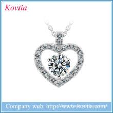 Collier boutique en ligne collier coeur en or blanc collier de mariage en zirconé bijoux en marbre en gros