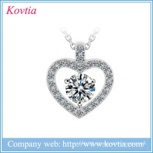 Colar loja on-line site de ouro branco colar de coração zircon vestidos de noiva por atacado bridal jóias