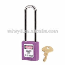 Long shackle safety padlock Keyed-differ With CE Marked