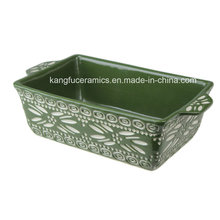 Ceramic Oval Bakeware with Handle