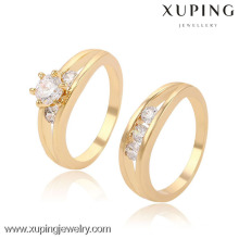 13397-Xuping Fashion latest gold plated ring designs for wedding anniversary gifts
