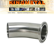 316L Stainless Sanitary Pipe Fitting L2km Clamped and Welded Elbow Sch10
