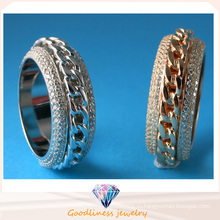Кольцо обручального кольца кольца стерлингового серебра 925 способа AAA CZ обручальное R10499