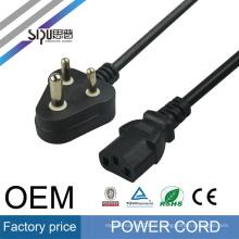 SIPU Inde standard cordon d'alimentation prise électrique meilleur fil électrique prix ordinateur câble d'alimentation