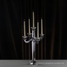 Китай профессиональное изготовление оптовая талль свадебный кристалл свеча держатель с висит кристаллы