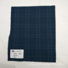 Atacado em estoque de alta qualidade lã poliéster misturado tecido de sarja para uniforme de terno