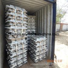 Fuente de fábrica de lingote de aluminio puro 99.7%