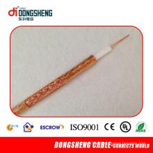 RG6 CCTV / CATV / cabo coaxial para VHF (blindagem padrão)