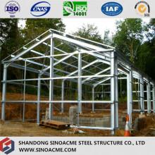 Edificio de estructura de acero ligero prefabricado para casa y oficina
