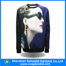 Benutzerdefinierte Hoodies Männer Mode 3D Digital Print Sweatshirts