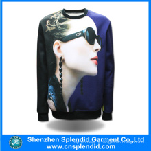 Custom Hoodies Men Moda 3D Digital Imprimir Camisolas