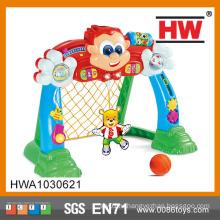 Забавные мультфильм пластиковые игрушечные футбольные ворота со светом и музыкой