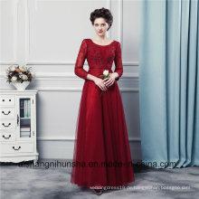 Lange Ärmel Brautjungfer Kleider Hohe Qualität Tüll Lange Brautjungfer Kleider