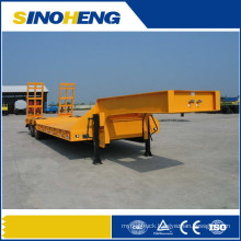 13m Plateform Lowbed Semi Trailer with Rear Ladder