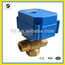 3-way elctric actuator with electrical brass ball valve with ball valve for hot-water system and pump circulates water system