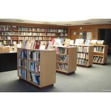 Книжная полка для библиотеки в деревянный Материал