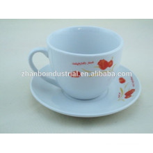 Factory directly porcelain coffee cup and saucer