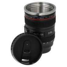 400ml Caneca de design de lentes, caneca de plástico de parede dupla, copo de aço inoxidável