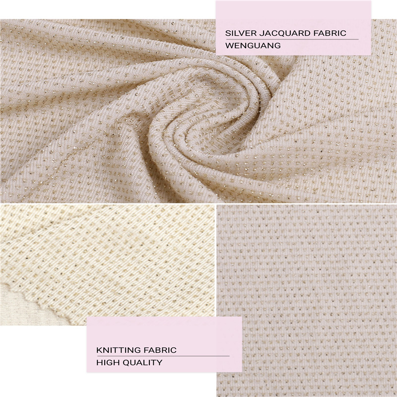 Knitted jacquard Fabric.