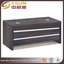 Mobiliário de escritório com venda quente Manteiga escritório de escritório de madeira executivo com decoração de linha branca