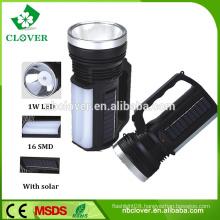 Powerful 1W led+16 SMD solar camping lantern,rechargeable camping lantern,solar flashlight