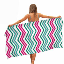 Quick Fast Dry Microfiber 100% Polyester Customized Printed Beach Towel Wholesale